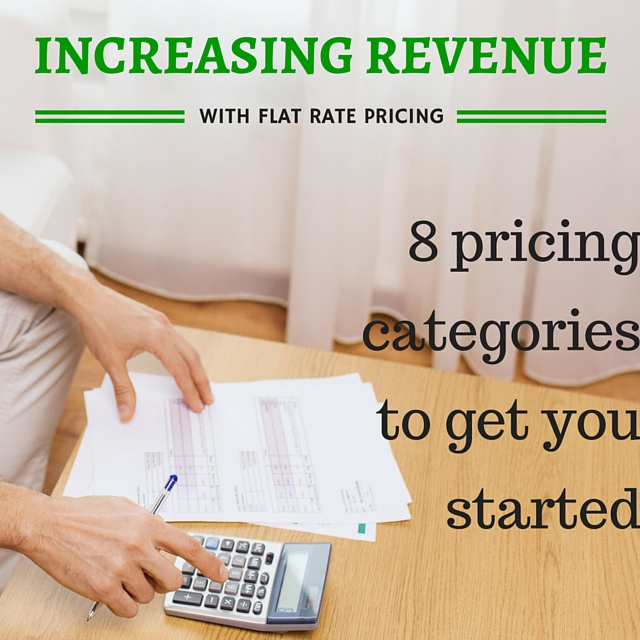 Learn how to use flat rate pricing with these 8 pricing categories