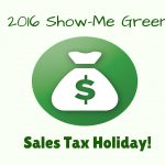2016 Show-Me Green Tax Holiday