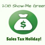 2018 Show-Me Green Sales Tax Holiday